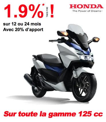 Offre 1.9% sur toute la gamme 125cc