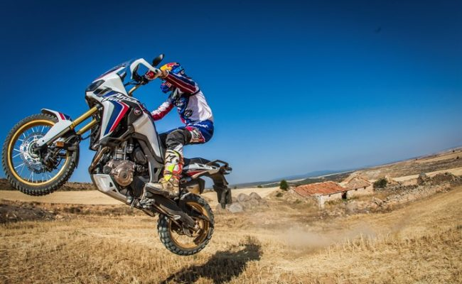 Joan Barreda riding 16YM Africa Twin